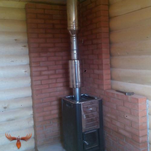 установка металлических банных печей4